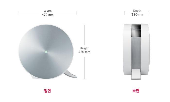 LG 공기청정기 LA-V119SS