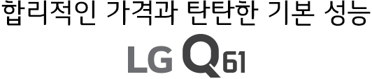합리적인 가격과 탄탄한 기본 성능<br>LG Q61